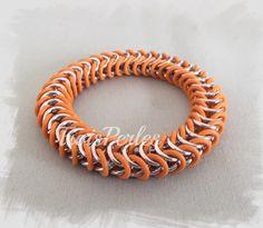09  Chain Maille Armband  Chainmaille Bracelet von TroisPerles