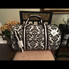 Vera Bradley Round Duffel Bag New with Tags All Details are listed last Photo. Brand New With Retail Tags Vera Bradley Bags Travel Bags