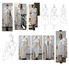 Fashion Sketchbook - fashion design process; draping; fashion portfolio // Malgorzata Maria Pabian