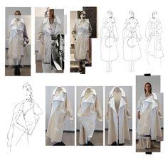 Fashion Sketchbook - fashion design process; draping;  fashion portfolio // Malgorzata Maria Pabian