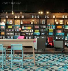 Cement Tile Shop - Encaustic Cement Tile Caribbean Diagonal Jade