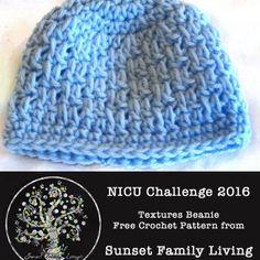 Textures Beanie | Free Crochet Pattern | NICU Challenge 2016