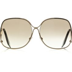 Victoria Beckham Square-frame rose gold-plated sunglasses ($510) ❤ liked on Polyvore featuring accessories, eyewear, sunglasses, glasses, óculos, gafas, square frame glasses, uv protection sunglasses, victoria beckham glasses and uv protection glasses