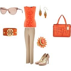 Orange...why not?, created by aminah-brelvi on Polyvore