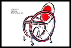 Reciclar muebles #reciclaje #muebles #reusable #ecología #ideasparareciclar #silla #bicicletas#llantas