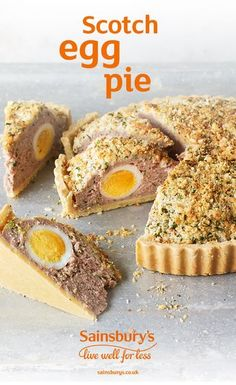 Scotch egg pie If you love Scotch eggs (and who doesn't?), you're in for a real treat. This picnic friendly recipe is absolute pie-fection. Pie Recipes, Dessert Recipes, Cooking Recipes, Picnic Recipes, Pastry Recipes, Vegetarian Cooking, Chicken Recipes, Snack Recipes, Savoury Baking
