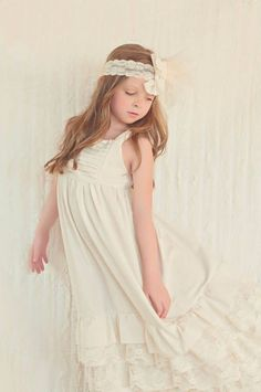 Gorgeous Linen Ruffle Maxi Dress Perfect for by SouthernBabyDesign