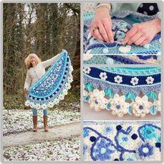 Risultati immagini per adinda zoutman crochet Crochet Woman, Love Crochet, Beautiful Crochet, Diy Crochet, Crochet Flowers, Crochet Shawls And Wraps, Crochet Scarves, Crochet Clothes, Freeform Crochet