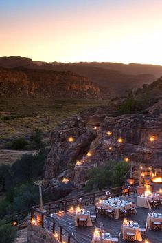 The Embers dining area offers panoramic meals under the stars. Bushmans Kloof Wilderness Reserve (South Africa) - Jetsetter