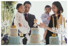 Joshua's 1st Birthday Party - Cakes By Christine NY, Event Designer: Cana's Miracle, Photography: Story By Mia,  Toppers By: Sachiko Windbiel (Mimi Cafe Union @ New York