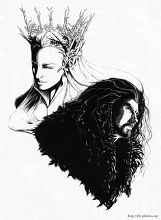 The Hobbit - Thranduil and Thorin by ~himlayan