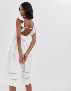 White Romper Dress, Asos White Dress, Lace Insert, Beautiful Dresses, Fashion Online, Safari, Fashion Dresses, Cold Shoulder Dress, Prom Dresses