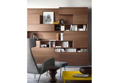 Piance People storage system. living room furniture, living area pianca, people pianca, container and library, to the living area, living wood, modern living room, fitted wall, day moving composition day decor compositions