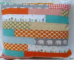 { custom } brick patchwork pillow cover by { philistine made }, via Flickr