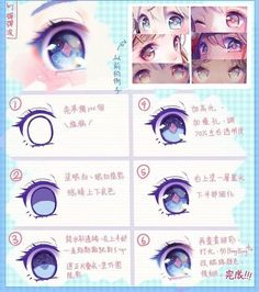 Trendy Drawing Tutorial Anime Eyes Ideas - Anime New Photos Eye Drawing Tutorials, Digital Painting Tutorials, Digital Art Tutorial, Art Tutorials, Painting Tips, Painting Techniques, Manga Tutorial, Eye Tutorial, Realistic Eye Drawing