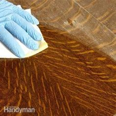 This is pretty awesome. Fix up the finish on wood pieces without having to strip the wood.