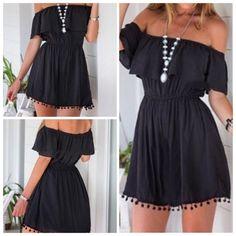 Off the shoulder black dress  Very flattering mini off shoulder dress... Perfect for spring/summer time.   trade/pp Dresses Mini