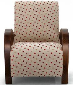 Darwin Upholstered Chair £ 650 in funky spots! Sweet!
