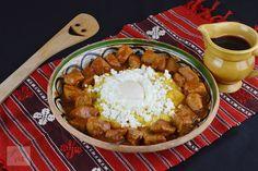 Tochitura dobrogeana - CAIETUL CU RETETE Yummy Food, Tasty, Biscuit, Cooking Recipes, Desserts, Kitchens, Zucchini, Holiday Recipes, Tailgate Desserts