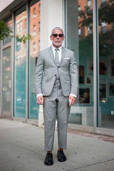ストリートスナップニューヨーク - NICK WOOSTERさん - THOM BROWNE. NEW YORK, トムブラウンニューヨーク