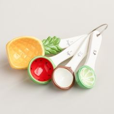 Fruity ceramic measuring spoons that'll put you in a good mood.