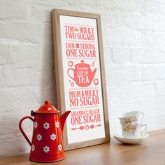 'Everyones Cup of Tea' Personalised Print - holiday gift ideas