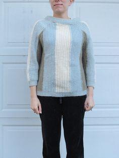 1960s Bobbi Brooks super soft colorblock sweater by PicassosStudio