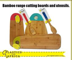 At #PlasticsforAfrica, we stock a range of Bamboo cutting boards and utensils. Visit your nearest branch today.