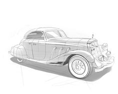 Retro sketches by Gregory Greshnikov, via Behance