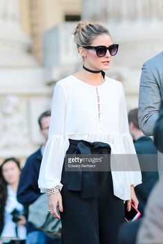 Fotografia de notícias : Olivia Palermo is seen, outside the Barbara Bui...