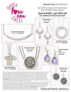 touchstone crystal, touchstone crystal by swarovski, jewelry, direct sales, december specials, customer specials, customer, last minute