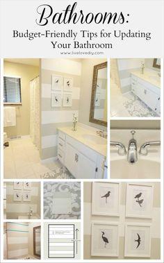LiveLoveDIY: Guest Bathroom Makeover: Budget Friendly Bathroom Decorating Ideas by lynn7959