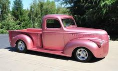 Pink 1941 Chevy truck.  This reminds me of Simons green truck.  Maybe I can get him to do a respray