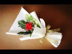 Как Красиво Упаковать одну Розу Оригинально упаковать 1 розу в пленку Современная Флористика - YouTube