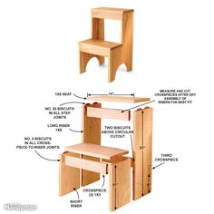Here's a great gift idea that will draw raves. The joints are accurately made in seconds with a biscuit joiner! Complete instructions for building this stool are found here. Want to learn about using a biscuit joiner before taking on this project? Watch this video that shows you how to make strong, fast and accurate joints with this useful tool.