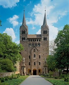 Westwork, Abbey Church of Corvey. Germany. Late 9th century (upper stories mid-12th century)