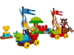 Go sail wagon racing with Captain Hook and Skully!