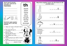 Teaching Resources for South African Teachers Worksheets For Kids, Afrikaans, Phonics, Kids Learning, Teaching Resources, Homeschool, Barbie, Classroom, Printables