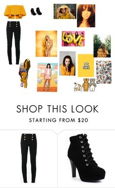 """""""Untitled #15"""" by cake714 ❤ liked on Polyvore featuring Balmain and Victoria's Secret"""