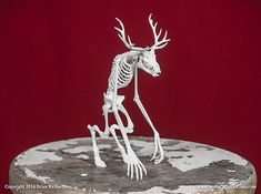 Wendigo Skeleton 3D Print Taxidermy Sculpture