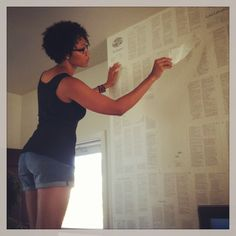 how to make newspaper wallpaper - Google Search
