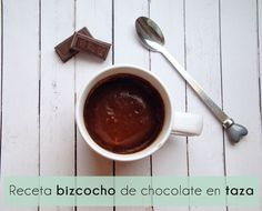 Receta bizcocho de chocolate en taza Chocolate Fondue, Diy, Tableware, Desserts, Food, Home, Dessert Recipes, Cook, Printables