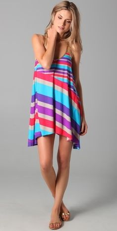 Marc by Marc Jacobs Merida Striped Cover Up Dress - StyleSays