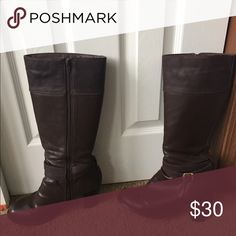 Brown boots Brown boots with a 3 inch heel. Shoes Heeled Boots