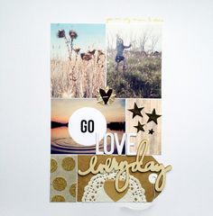 #papercraft #scrapbook #layout. Go Love by MarthaBonneau at @studio_calico