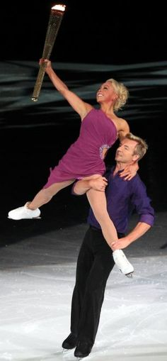 Torvill & Dean, part of the 2012 Torch Relay.