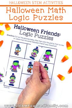 Do you feel like your kids are strong logical thinkers? Can they think critically to solve problems? Whether you feel like this is an area where they struggle or you just want to help strengthen and hone those thinking skills, this adorable set of Halloween math logical puzzles is for you! This set of cut and paste puzzles is similar to sudoku, but more accessible for even the youngest learners. Learn how to use them and grab your free puzzles here. #Halloween #HalloweenMath