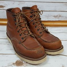 Red Wing Boots Moc Toe 10875 Size 8D Traction Tred 6-inch Classic Iconic 8 D d6df2a5f7