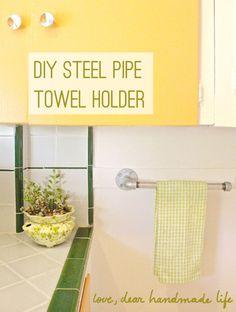 DIY Steel Pipe Towel Holder - Dear Handmade Life