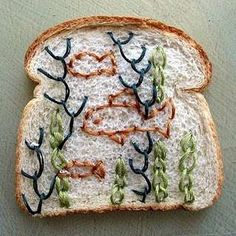 Embroidered Bread - Wonder Bread Embroidery Gets the Van Gogh Treatment (GALLERY)